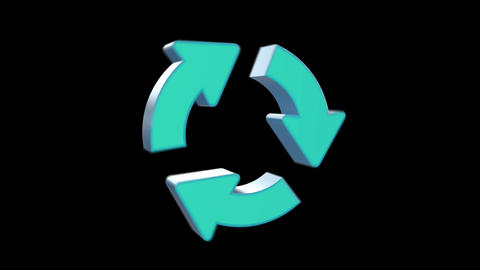 リサイクルシンボル Stock Video Footage