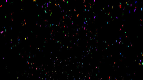 Falling Confetti Animation with Alpha Channel Stock Video Footage