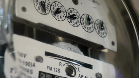 Electrical Meter Counting Up the Electricity Cost Stock Video Footage