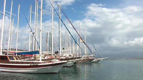 boats fethie 4 Stock Video Footage