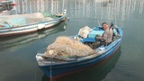 Fisher Boat 1 stock footage