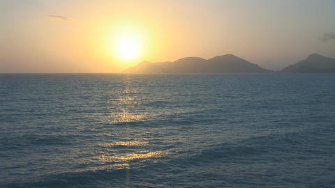 sunset warm 1 Stock Video Footage