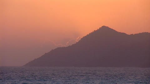 sunset warm 3 Stock Video Footage
