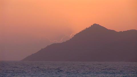 sunset warm 3 Footage