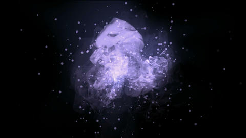 fusion quantum energy field & universe explosion with particles Animation