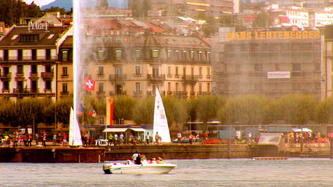 fountain geneva 2 Stock Video Footage