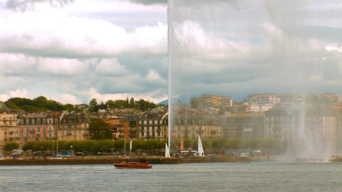 fountain geneva 6 Stock Video Footage