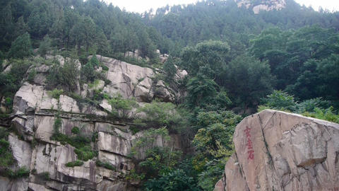 Look up mountains rock-carvings,forests &... Stock Video Footage