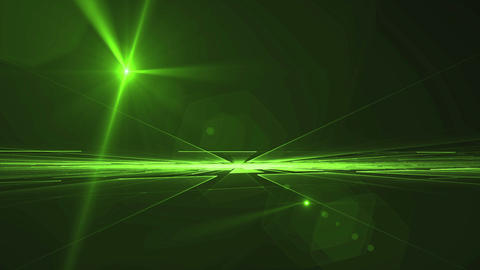 Green Geometrical Horizon with Light Flare Rotating in all Directions Animation