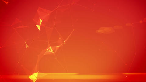 Background with triangle particles Animation