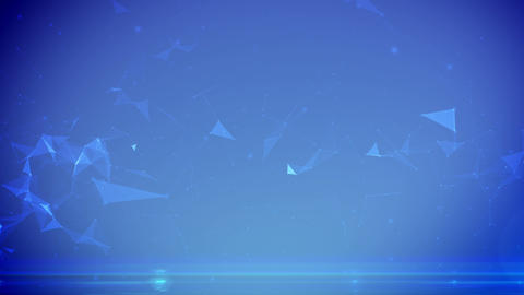 Abstract digital background with cybernetic particles Animation