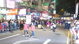 Freestyle football team at parade ceremony, chinese new year celebration Footage