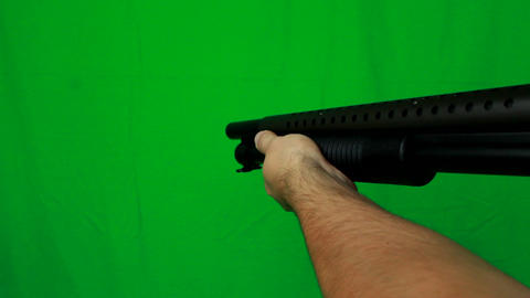 Shotgun Pull Out 2 - Green Screen Live Action