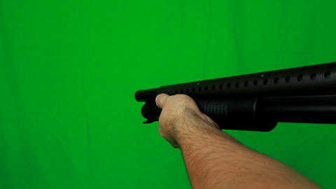 Shotgun Pull Out 1 - Green Screen Live Action