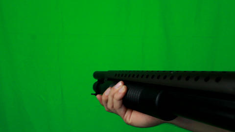 Close Shotgun Pull Out 2 - Green Screen Live Action