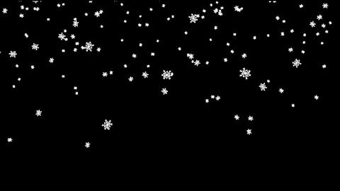 Cartoon Snowflakes Falling Big Footage