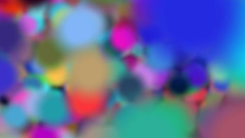 Big Colored Bubbles Background Transition Footage