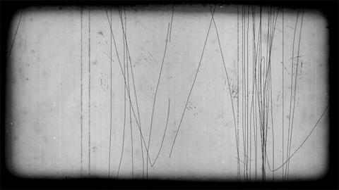 Old Film Look Scratches With Border Footage