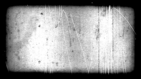 Very Old Film Look With Scratches And Border Footage