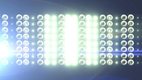 Big Horizontal Flashing Floodlights With Lens Flare 3 Footage
