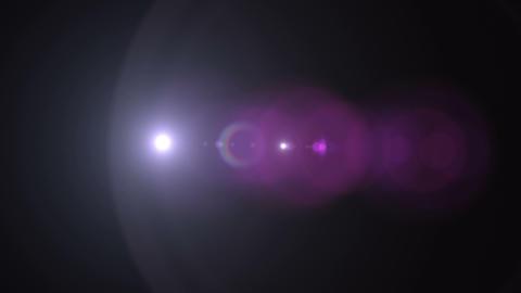 Horizontal Prime Lens Flare 188 Footage