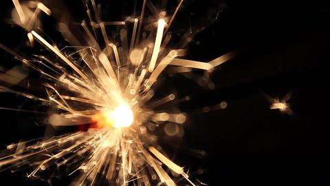 Burning Bengal Lights Sparkler 8 Footage