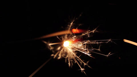 Burning Bengal Lights Sparkler 5 Footage