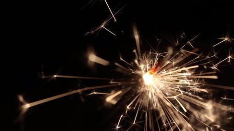 Burning Bengal Lights Sparkler 15 Footage