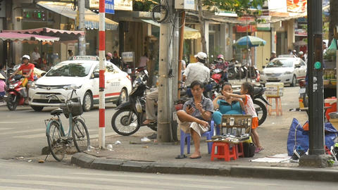 HO CHI MINH / SAIGON, VIETNAM - 2015: Scene asia people asian city lifestyle Live Action