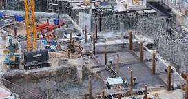 HO CHI MINH / SAIGON, VIETNAM - 2015: Asia growth building construction site Footage