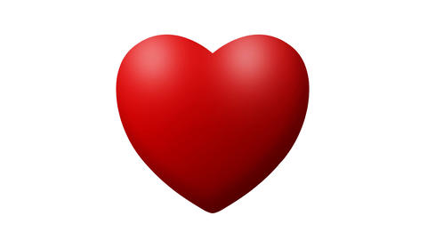 Love heart thumping beating on white background Footage