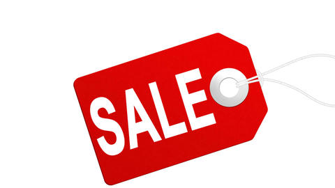 Big sale animation with red tags for shopping sales and promotions Footage