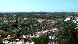 Spain The Canary Islands Gran Canary 023 Maspalomas cityscape Footage