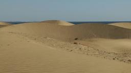 Spain The Canary Islands Gran Canary 017 Maspalomas Dunes Desert Landscape stock footage
