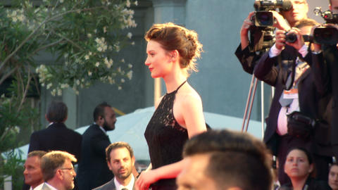 Mia Wasikowska red carpet Footage