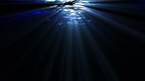 Underwater ocean waves, with light rays Animation