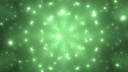 Abstract Green Background Fractal Sun Animation
