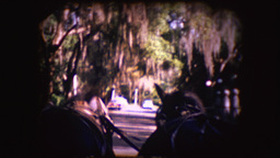 Vintage 8mm footage of horse pulling carts Footage