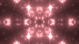 Abstract Red Background Fractal Sun Animation