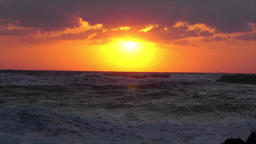 Wonderful Sunset over the ocean (time lapse) Footage