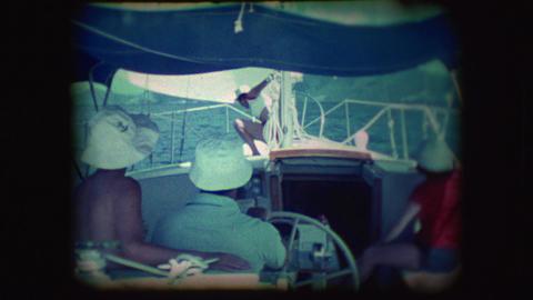 Vintage 8mm footage of people on Sail boats Footage