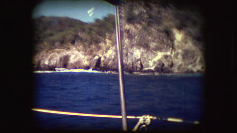 Vintage 8mm footage of Sail boats Footage