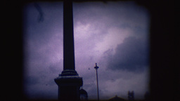 Vintage 8mm footage of Nelson's Column in Trafalgar Square Footage