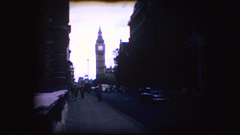 Vintage 8mm footage of Big Ben Footage