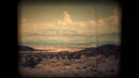 View of the Nevada desert outside Las Vegas in the mid 1960's Live Action