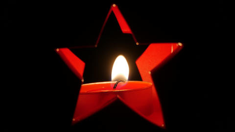 Christmas candle in the dark Footage