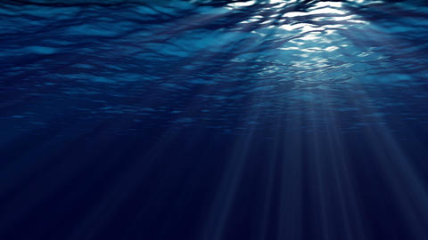 Animation of ocean waves from underwater. Marine background Animation