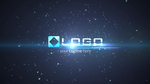 Particles Explosion Light Logo Reveal Intro After Effects Template