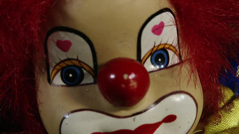 4 K Scary Clown Doll 6 closeup Live Action