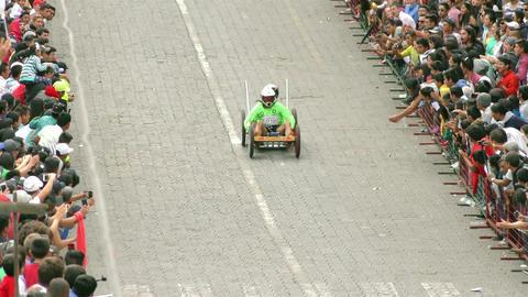 annual homemade cart competition banos de agua santa Footage